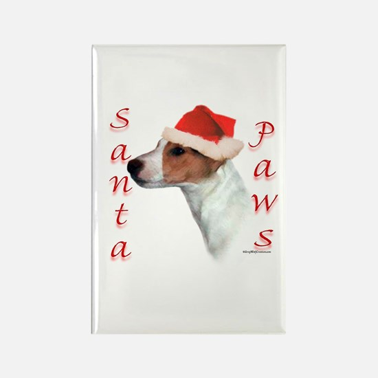 Santa Paws Jack Russell Rectangle Magnet