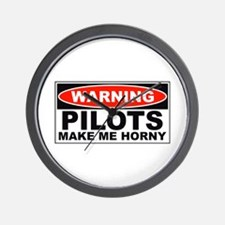 Pilots Make Me Horny Wall Clock