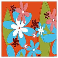Hippie Flower Power Poster