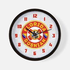 Florida Bosnian American Wall Clock