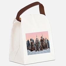 Futuristic City Canvas Lunch Bag