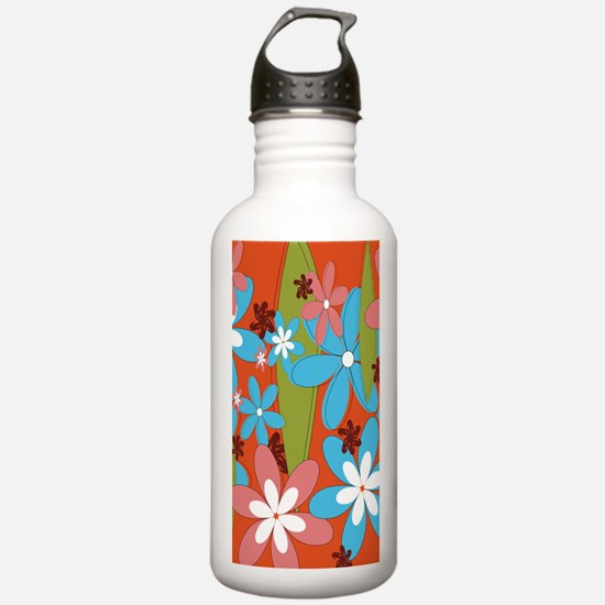 Hippie Flower Power Sports Water Bottle