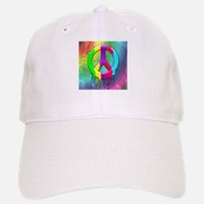 Peace Symbol Dripping Rainbow Paint Baseball Baseball Baseball Cap
