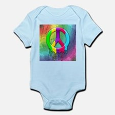 Peace Symbol Dripping Rainbow Paint Body Suit