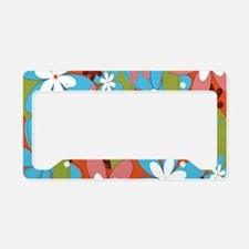 Hippie Flower Power License Plate Holder
