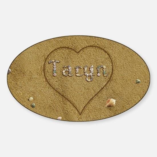 Taryn Beach Love Sticker (Oval)
