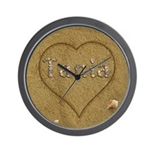 Tania Beach Love Wall Clock