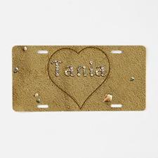 Tania Beach Love Aluminum License Plate