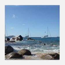 BVI Sailing Boats Tile Coaster
