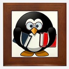 Smart Penguin Framed Tile