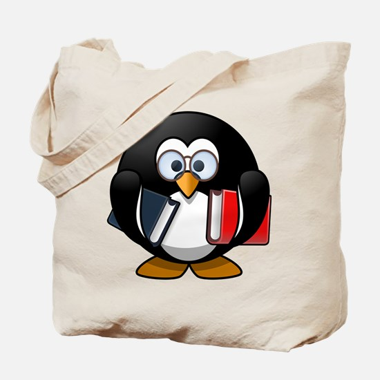 Smart Penguin Tote Bag