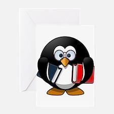 Smart Penguin Greeting Cards