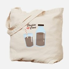 Chocolate Cows Tote Bag