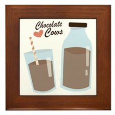 Chocolate Cows Framed Tile