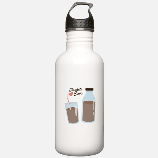 Chocolate Cows Water Bottle