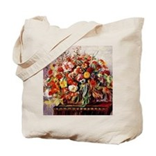 Renoir - Basket of Flowers Tote Bag
