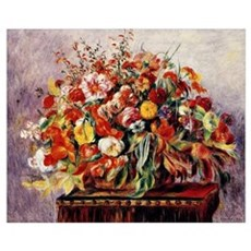 Renoir - Basket of Flowers Poster