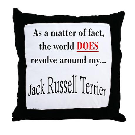 Jack Russell World Throw Pillow