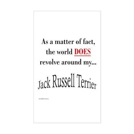 Jack Russell World Rectangle Sticker