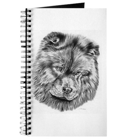 Chow Chow Pencil Drawing Journal
