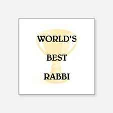 "RABBI Square Sticker 3"" x 3"""