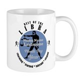 Custom text libra horoscope zodiac sign Small Mugs (11 oz)