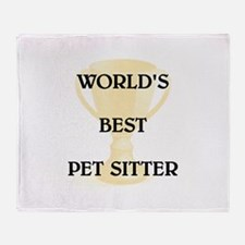 PET SITTER Throw Blanket
