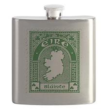 Slainte Irish Stamp Flask