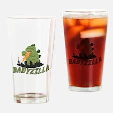 Babyzilla Drinking Glass
