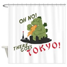 There Goes Tokyo Shower Curtain