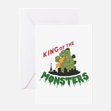 King of the Monsters Greeting Cards