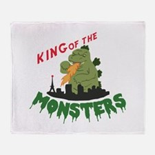 King of the Monsters Throw Blanket