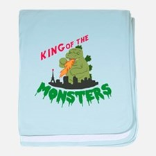 King of the Monsters baby blanket
