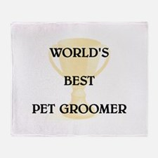 PET GROOMER Throw Blanket