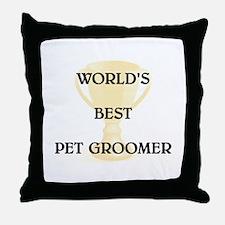 PET GROOMER Throw Pillow
