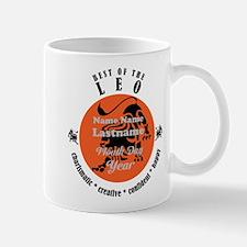 Custom Text Leo Horoscope Zodiac Sign Mugs
