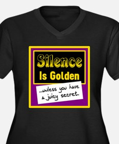Silence Is Golden Plus Size T-Shirt