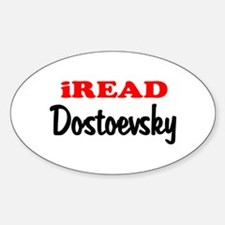 iREAD Dostoevsky Oval Decal