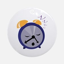 Snoozing Clock Ornament (Round)