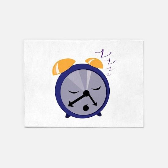 Snoozing Clock 5'x7'Area Rug