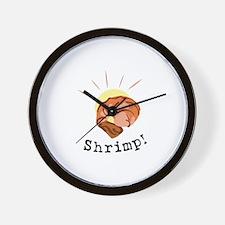 Shrimp Food Wall Clock