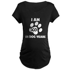 80th Birthday Dog Years Maternity T-Shirt
