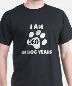 80th Birthday Dog Years T-Shirt
