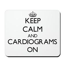 Keep Calm and Cardiograms ON Mousepad