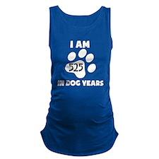 75th Birthday Dog Years Maternity Tank Top