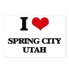 I love Spring City Utah Postcards (Package of 8)