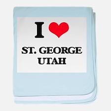 I love St. George Utah baby blanket
