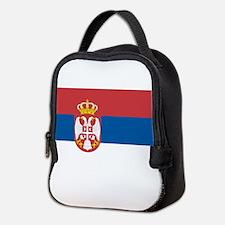 Serbian flag Neoprene Lunch Bag