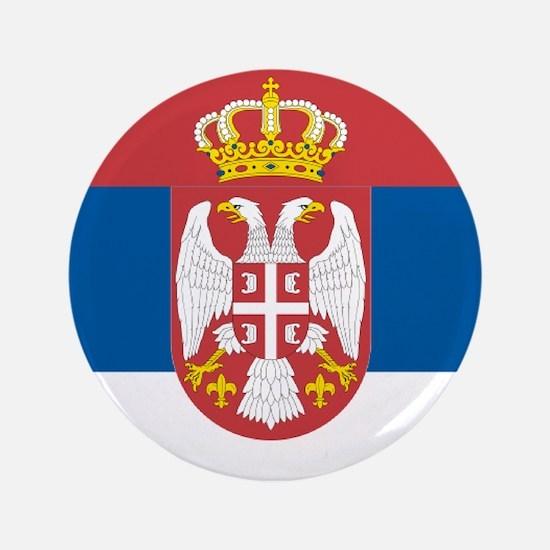 """Serbian flag 3.5"""" Button"""