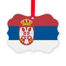 Serbian flag Ornament